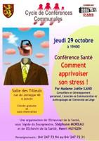 conférence santé le 29 octobre:comment apprivoiser le stress...